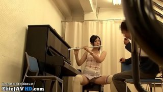 Japanese home teacher fucks music student