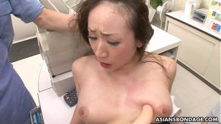 Ayumi Wakana is getting banged hard with a fucking machine
