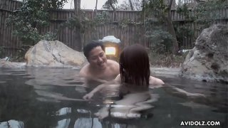 Japanese babe, Akiko Kurokawa got fucked in the spa, uncensored