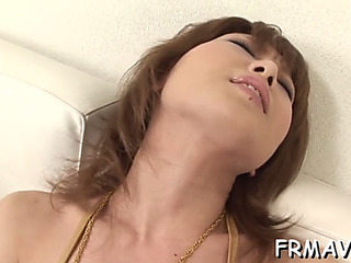 Oral Stimulation from seductive japanese