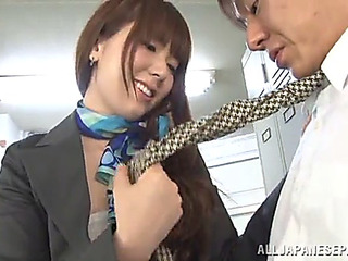 Office sex with a concupiscent japanese honey