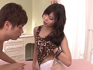 Megumi shino screams hard with dong in her petite cumhole