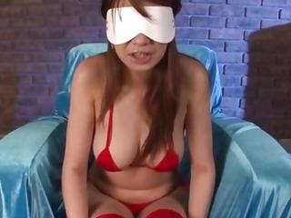 Dashing beauty in red underware,menacing Natsuki Shino,fearsome fantastic toy porn