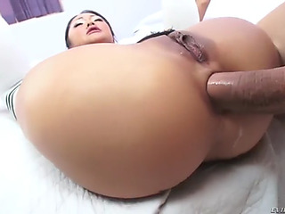 Saya song acquires her small korean arse brutalized by biggest shlong