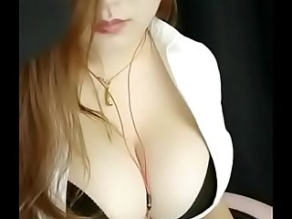 Big tit chinese girl solo on webcam !