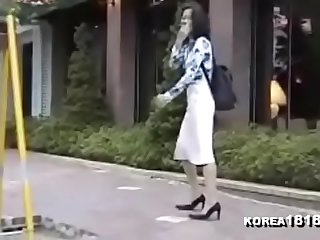 Former Korean classmates fuck like horny rabbits