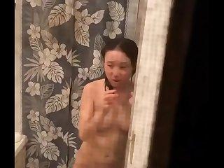 After shower spy cam
