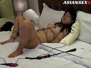 Chinese Model Fucked in Bondage Shoot