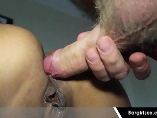 Hot Asian Teen Ass Gets A Creampie