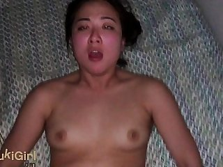 EPIC POV waking up a big ass Asian girl for creampies