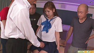 Schoolgirl Yura Kasumi is a hot japanese cum girl