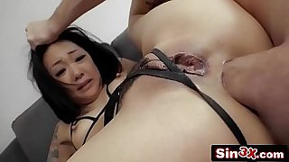 Ass-happy Asian Slut Rides Big Cock