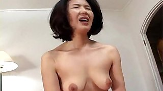 Asian milf loses her mind as she's fucked